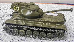 Panzer Char Blinde General Patton dunkelgrün von Solido
