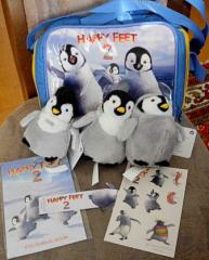Tasche Happy Feet blau - NEU