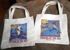 2 kleine Beutel mit Delfin Sujet