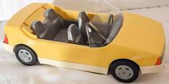 Auto Cabriolet gelb