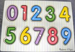 Greifpuzzle aus Holz Zahlen 0-9 mit Bildern