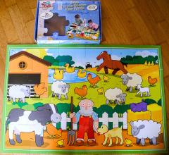 Farm Holz-Puzzle 26 grosse Teile