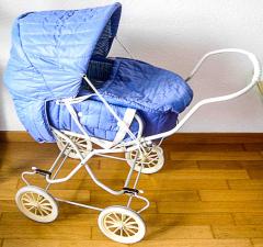 Puppenwagen blau