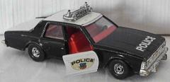 Polizei-Auto Chevrolet schwarz/weiss von Corgi