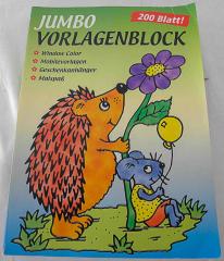 Jumbo Vorlagenblock, Malbuch