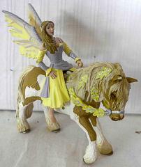 Pferd hellbraun/weiss mit Figur Elfe Sera von Schleich