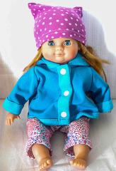Puppe mit blauer Jacken