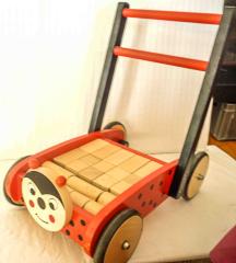 Lauflernwagen Marienkäfer aus Holz