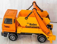 Container Lastwagen orange