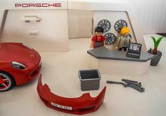 Porsche rot 911 mit Garage Nr. 3911