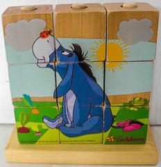 Würfelpuzzle Winnie Pooh aus Holz