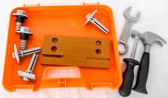 Werkzeugkoffer orange/weiss
