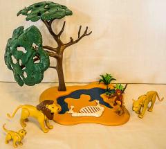 Löwenfamilie mit Affenbaum Nr. 4830