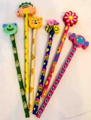 6 Bleistifte mit Radiergummi - NEU