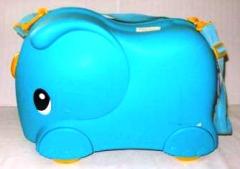 Koffer Elefant hellblau