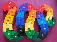 Schlange aus Holz A-Z