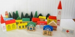 Häuser und Bäume Set