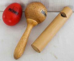 Rhytmus-Set aus Holz