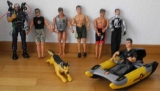 7 Action Man Figuren