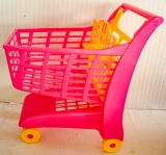 Einkaufswagen pink/gelb