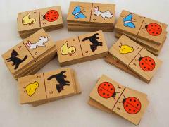 Domino aus Holz