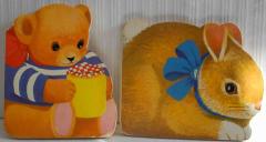 2 kleine Büchlein Hase und Bär