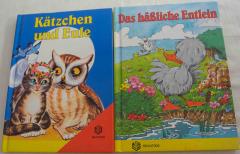 2 kleine Büchlein Das hässliche Entlein und Kätzchen und Eule