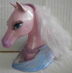 Pferde-Frisierkopf lila