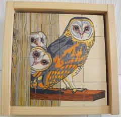 Würfelpuzzle aus Holz von Vogelwarte Sempach