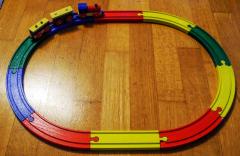 Holzeisenbahn farbig