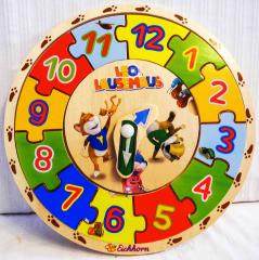 Uhr-Puzzle aus Holz