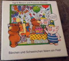 Bärchen und Schweinchen feiern ein Fest