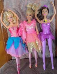 Barbie 3 Ballerina Puppen
