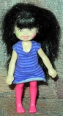Barbie Kleinkind mit lila Kleid