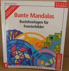 Bunte Mandalas Bastelvorlagen für Fensterbilder