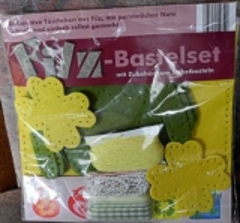 Filz-Bastelset Tasche mit Kleeblatt - NEU