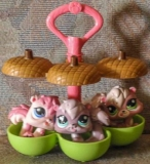 Littlest Pet Shop Eichhörnchen 3er-Set