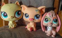 Littlest Pet Shop 3 grosse Figuren.
