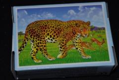 Mini Puzzle Tiger + Antilope im Hintergrund