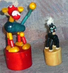 Wackelfiguren Hund + Katz
